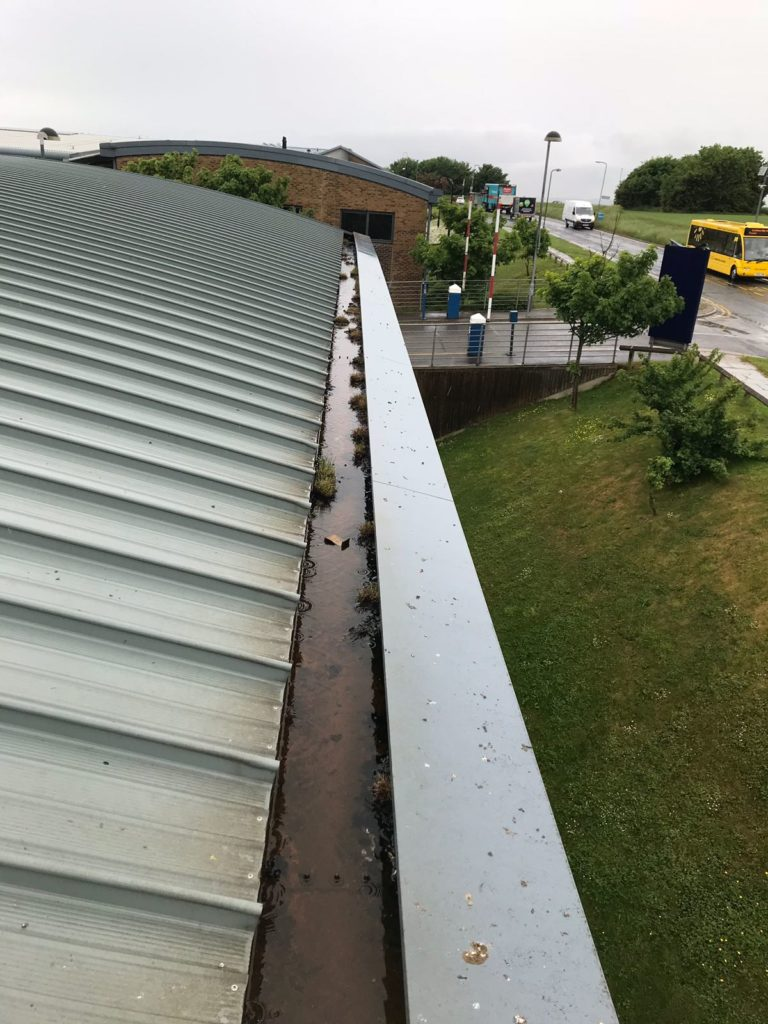 Commerical gutter cleaning and repairs for businesses, schools and hotels.