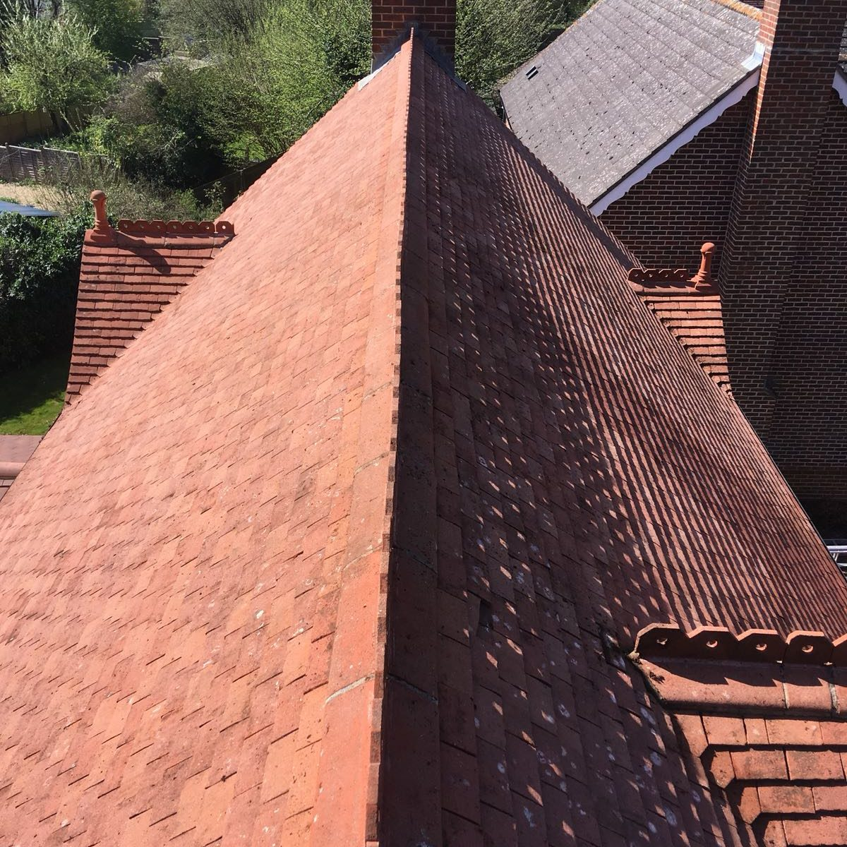 Roof cleaning will remove all the moss from your roof tiles